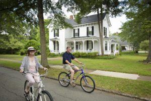 Biking through Madison Historic District
